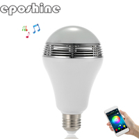 E27 B22 Wireless Bluetooth Speaker+12W RGB Bulb LED Lamp 110V 220V Smart Led Light Music Player Audio app Control