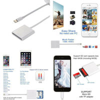 card reader USB Card Reader Camera SD TF Card Reader Adapter Cable for iPhone 8 Plus 6S Apple iPad Pro Air Mini 3B04 (2)