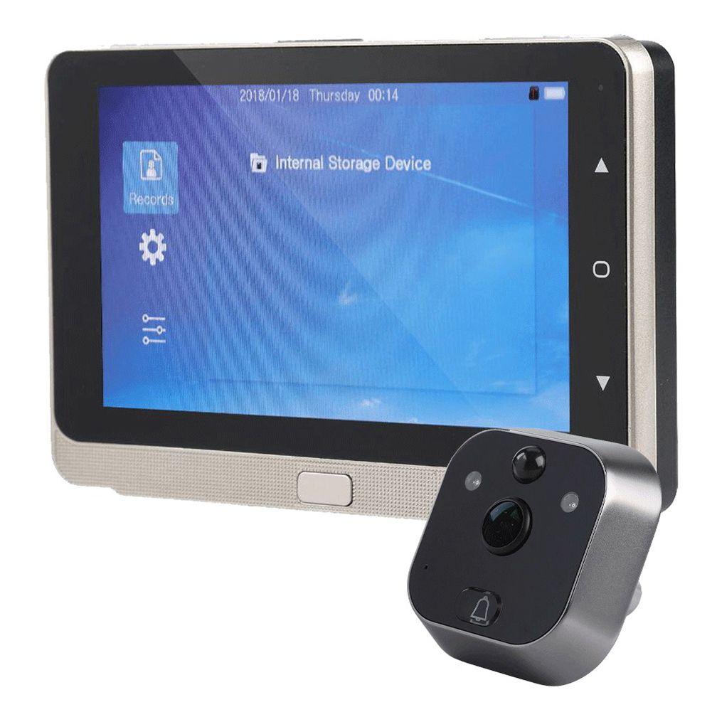 BHTS-5.0 Polegadas Display OLED Ecrã a Cores Campainha Espectador Olho Mágico Da Porta Digitais Espectador Olho Porta Câmera gravação de Vídeo Grande Angular
