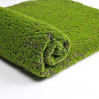 Musgo artificial falso plantas verdes grama do musgo do falso para a loja casa pátio decoração da parede do jardim sala de estar decoração supplies100 * 100cm