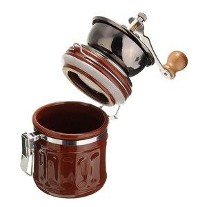 Image 4 - 레트로 스테인레스 스틸 세라믹 수동 커피 콩 그라인더 너트 밀 핸드 그라인딩 도구