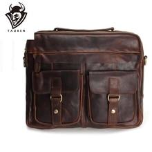 цена на Genuine Leather Men Bags Fashion Man Crossbody Shoulder Handbag Men Messenger Bags Male Briefcase Men's Travel Bag