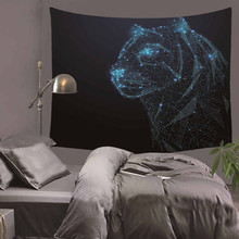 Printed Cartoon Wolf Elephant Tapestry Animal Wall Decorative Hanging Cloth Polyester Fabric Art 130x150cm
