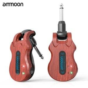 Image 1 - Ammoon Kablosuz Gitar Sistemi dijital gitar verici alıcı Dahili şarj edilebilir pil 300 Feet İletim Aralığı