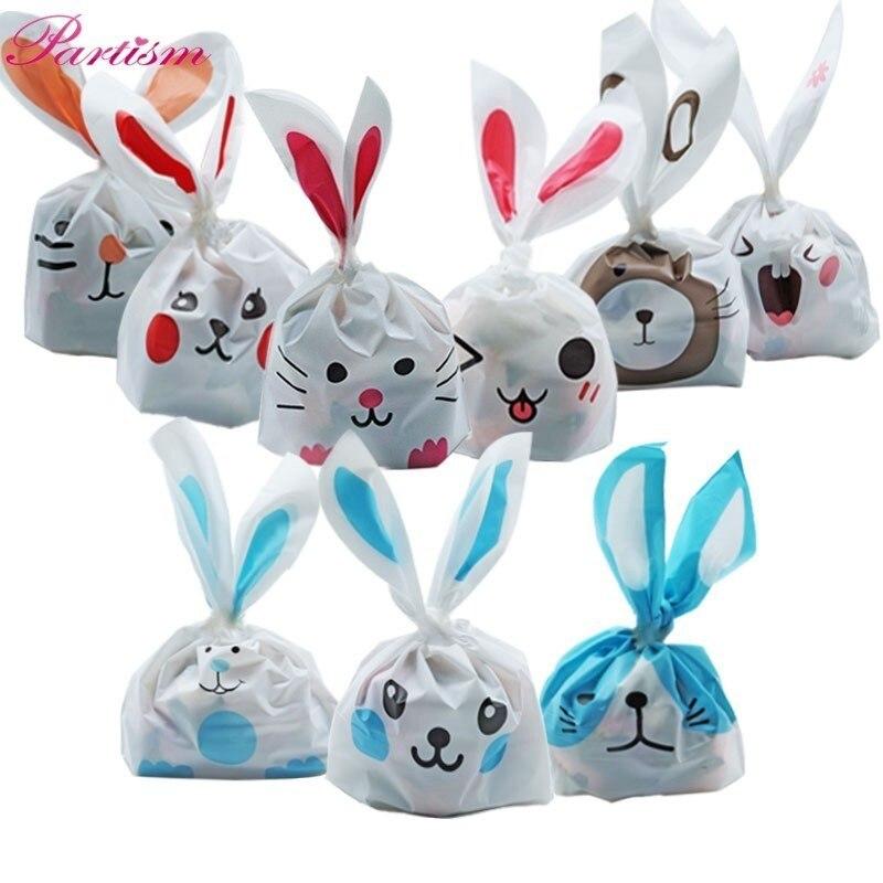 10 шт./лот милые заячьи ушки печенья и конфеты сумки животные самоклеющиеся полиэтиленовый пакет для печенья закуски Свадебные сувениры Подарки Поставки|Подарочные сумки и упаковка|   | АлиЭкспресс