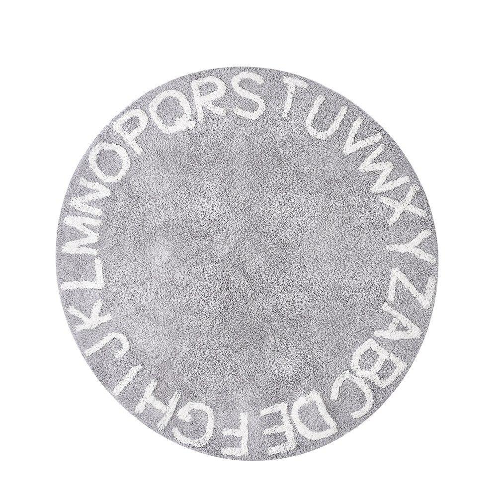Abc Alphabet Enfants Ramper Tapis de Jeu-Super Doux À Tricoter Éducatifs Lavable Carpettes Ronde 120 cm Diamètre