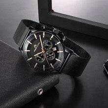 MEGALITH Модные мужские спортивные часы лучший бренд класса люкс водонепроницаемые часы хронограф Мужские кварцевые наручные часы Relogio Masculino