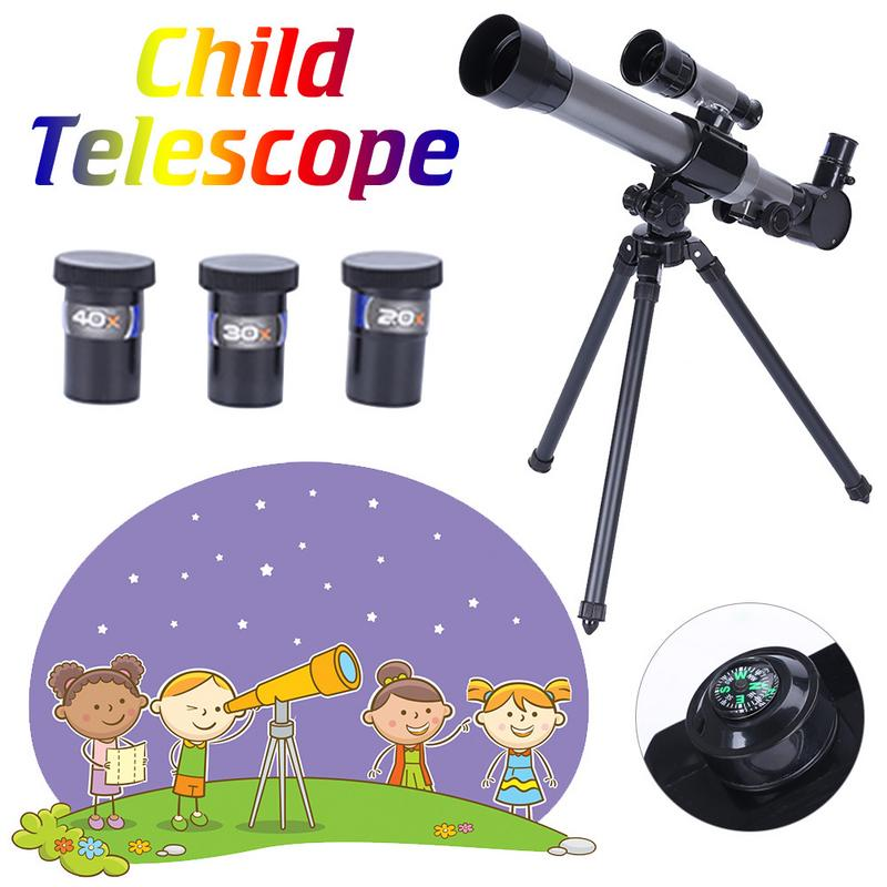 Child Refractor HD Telescope Multi-eyepiece Space Astronomic Telescope Portable Astronomical Refractor Telescope With CompassChild Refractor HD Telescope Multi-eyepiece Space Astronomic Telescope Portable Astronomical Refractor Telescope With Compass