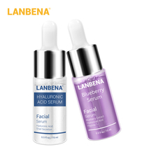 Lanbena Blueberry Serum+hyaluronic Acid Serum Essence Moisturizing Reduces Fine Line Whitening Anti-aging Wrinkle Skin Care 2pcs