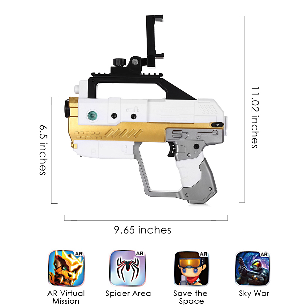 AR Gun Bluetooth 4.2 Game Pistol Gun With Phone APP Connection Stand Somatosensory Shooting Game Spider Territory AR Toy For Kid