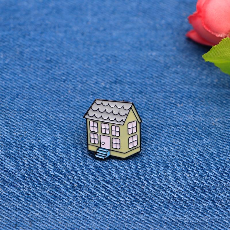 Home & Garden Candid Cartoon Brooches Pink Little House Enamel Pin For Girls Boys Lapel Pin Hat/bag Pins Denim Jacket Shirt Women Brooch Badge Sc4217 Arts,crafts & Sewing