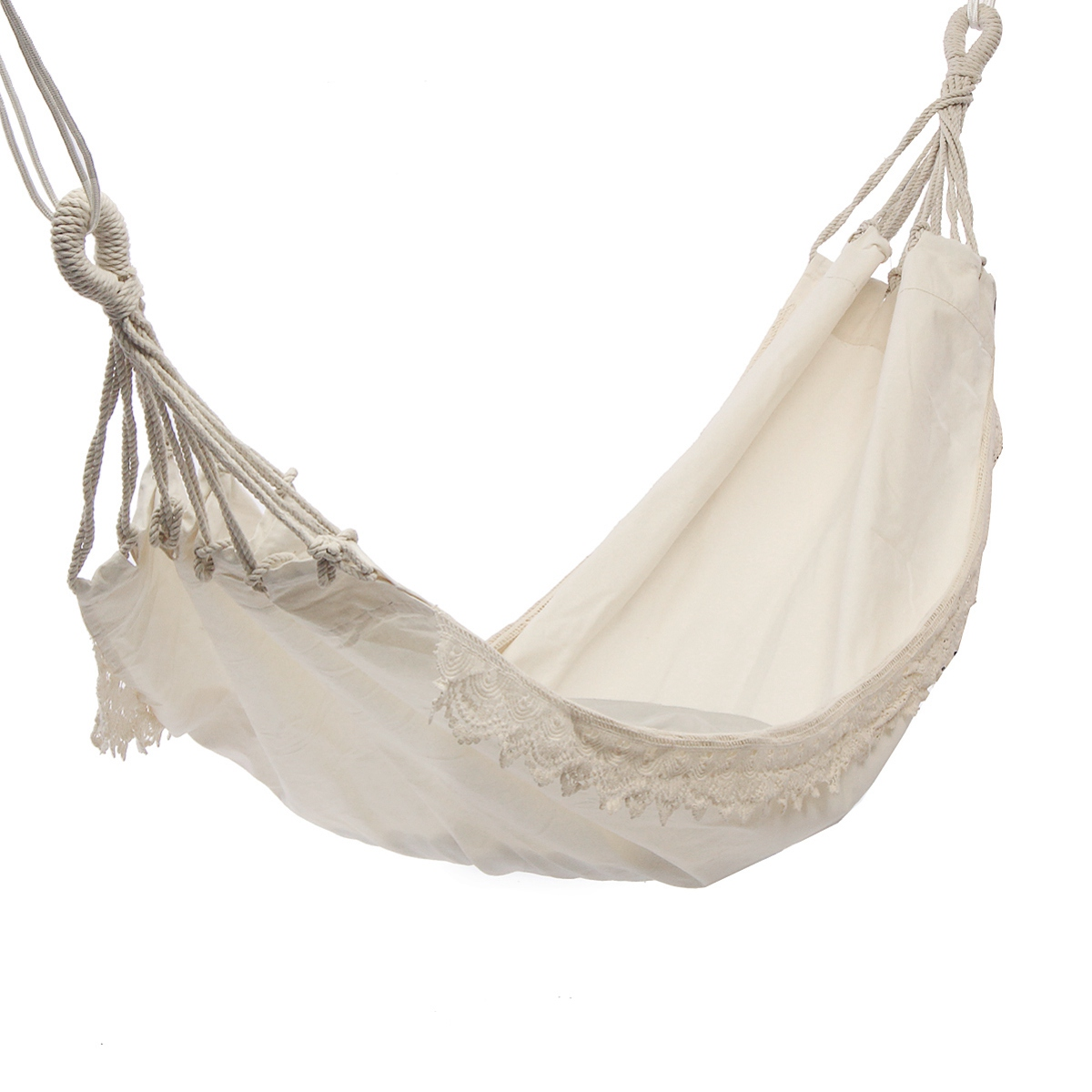 HOT Outdoor Camping Hammock Swing Portable Hanging Chair Pure White Romantic Lace For Travel Hiking Garden Sleeping Swing Port