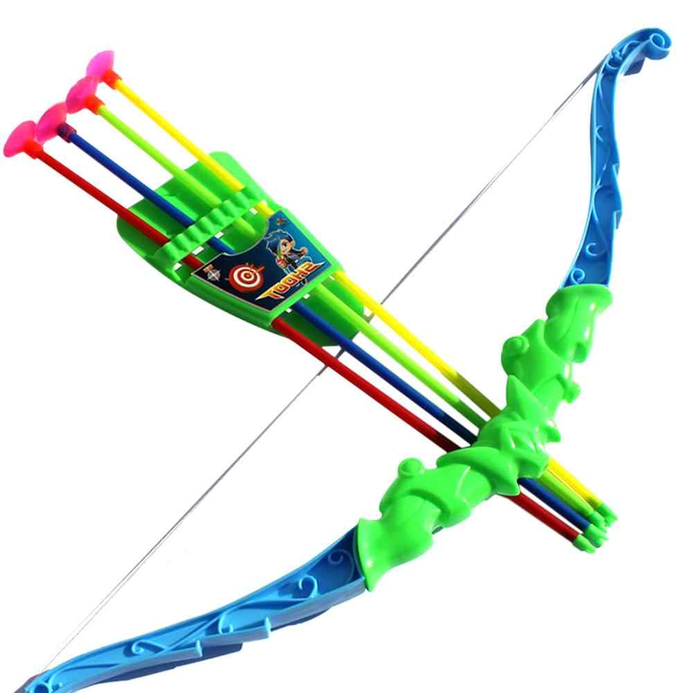 21 Inch Outdoor Shooting Toys For Children Simulation Plastic Bow +4PCS Arrow Toy Kids Baby Safety Soft EVA Arrow