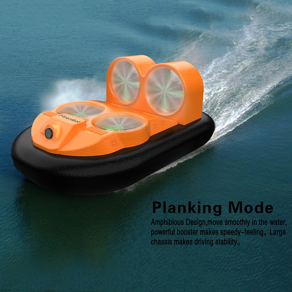 Mini RC Boat GV160 LED EPP FPV 2 4G High Speed Ground Effect Amphibious Anti crashed