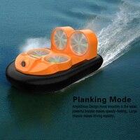 Мини жестокие GV160 светодио дный EPP FPV 2,4 г высокое Скорость земли эффект амфибия анти-разбился RC лодки автомобиля на воздушной подушке детски...