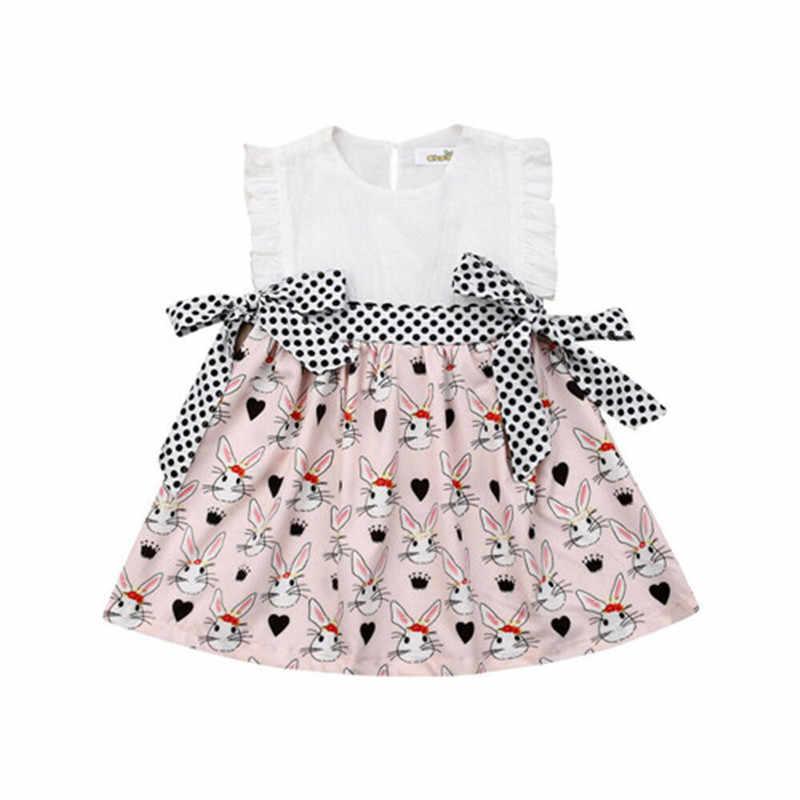 Zomer nieuwe Kleine/Grote Zus Bijpassende Kleding Kids Baby Meisje Pasen Romper Jurk Outfits Mouwloze Katoen O-hals Mode