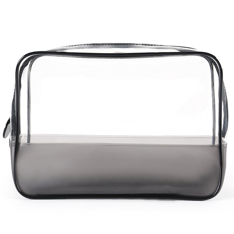 PVC Transparent Women Cosmetic Bag Waterproof Plastic Travel Organizer Bag Ladies Environmental Protection Makeup Storage Bags