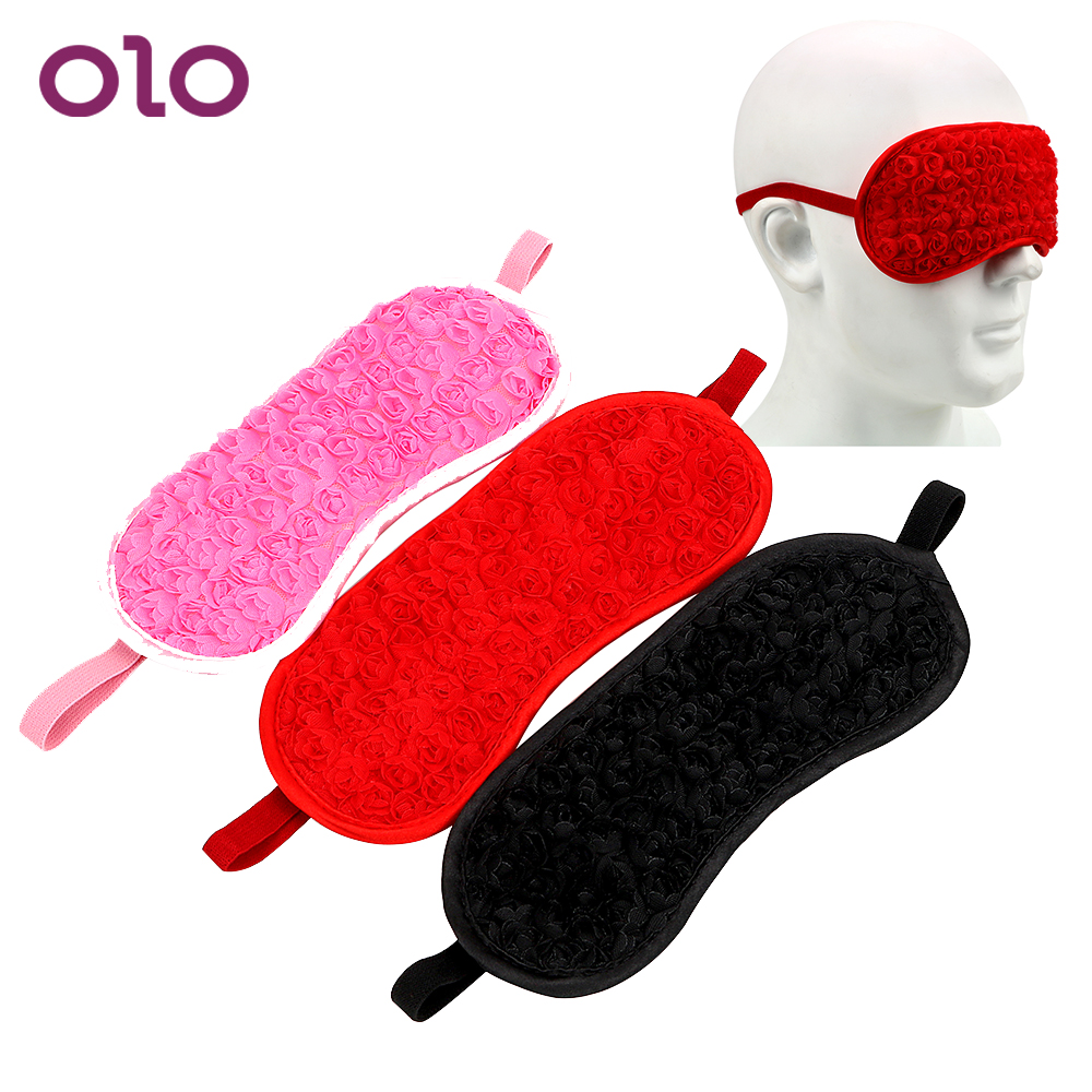 OLO Sexy Rose <font><b>Eye</b></font> <font><b>Mask</b></font> Adult Games Blindfold SM Bondage Bound Slave Erotic Fetish Flirt <font><b>Sex</b></font> Toys For Couples Women Flirtatious image