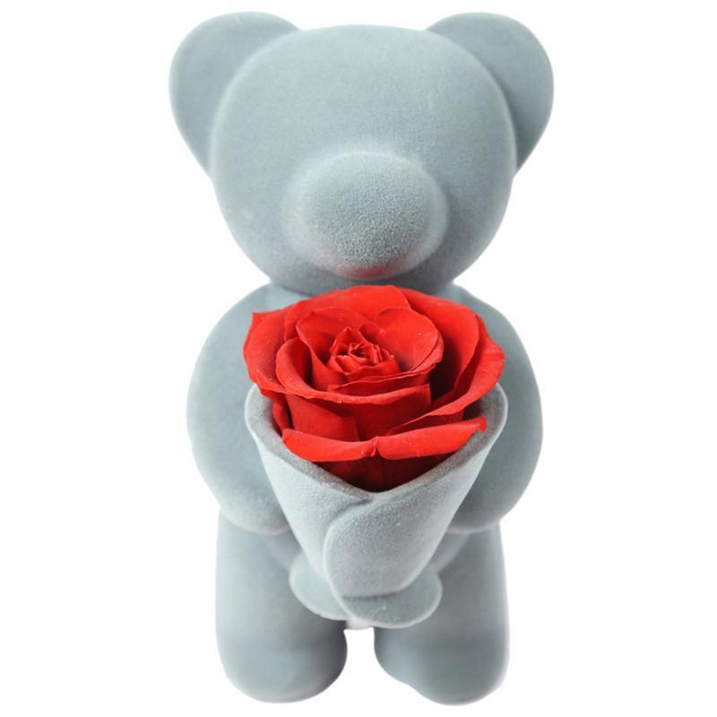 2019 présent du Jour de Valentine Éternelle Rose Ours Câlin Fleur Poupée pour la Saint Valentin Ornement ours en peluche fleur cadeau