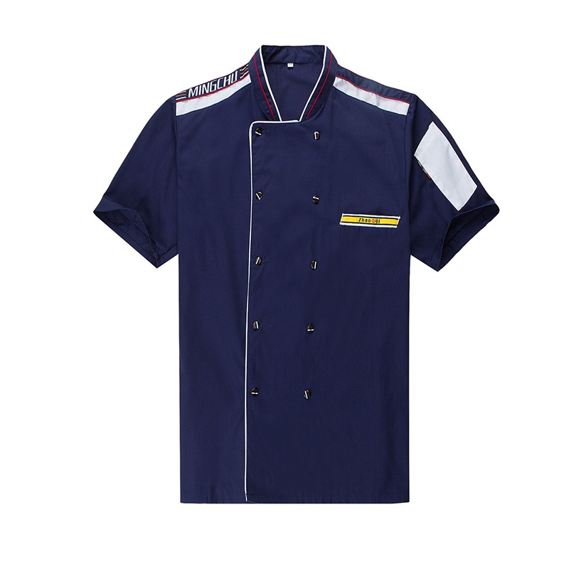 Chef Uniforms Clothing Summer Short Sleeve Chef Service Hotel Restaurant Kitchen Clothes 4 Color Uniform Chef Jackets Women Men in Chef Jackets from Novelty Special Use