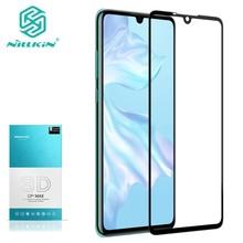 Voor Huawei P30 Gehard Glas Voor Huawei P30 Pro 3D Glas Nillkin Cp + Max Volledige Cover Screen Protector