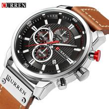 CURREN Luxury Brand Men Military Sport Watches Men's Quartz Clock Leather Strap Waterproof Date Wristwatch Reloj Hombre стоимость