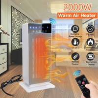 2000W PTC Vertical Warm Air Heater fan Remote control model with LED Digital Display Electric Heater For Home Bedroom Office Use