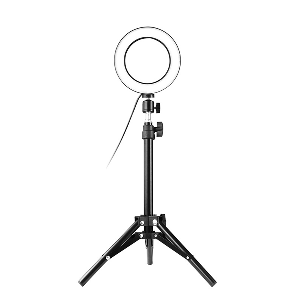 Fill Light For Live Show Selfie Lamp 5W 64LED Ring Light Selfie Camera Lamp With Telescopic Tripod Diameter 360 Rotatable Angle