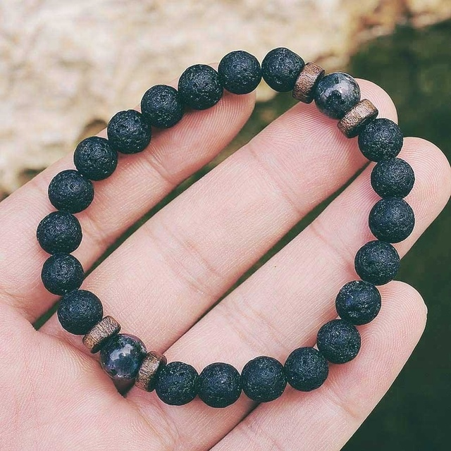 Men Bracelet Natural Moonstone Bead Tibetan Buddha Bracelet chakra Lava Stone Diffuser Bracelets Men Jewelry gift Drop Shipping 1