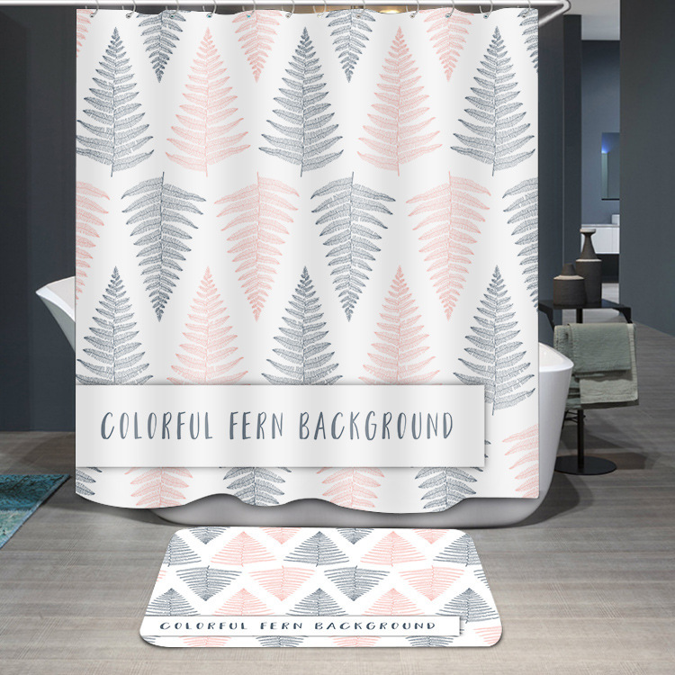 Defence Water Bath Curtain Number Printing Thickening Polyester Fiber Shower Curtain Diy Personality Pattern
