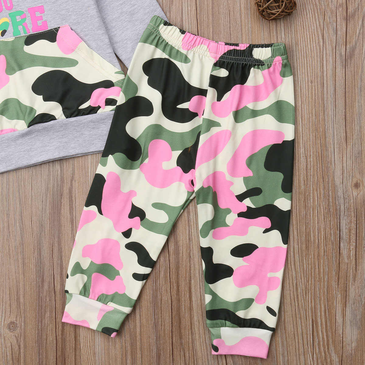 43399093f7465 ... CANIS Casual Toddler Kids Baby Girls Camo Hoodies Tops Camouflage Pants  Leggings Outfits Sets Clothes 1