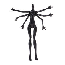 1pc Nude Doll Body Black Spider Poly-articular DIY 12 Joints Nude Body for Mon/ster High Dolls(China)