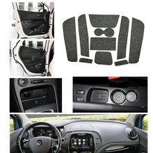 10 Pcs Gate Slot Mat Pad Felted Wool For Renault Captur QM3 Door Groove Car Accessories Anti-Slip Styling