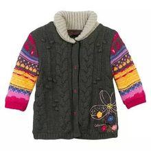 Amazing Daisy, Франция, C, домашний классический Удлиненный свитер для девочек, сохраняющий тепло, свитер кардиган пиджак, код на один год
