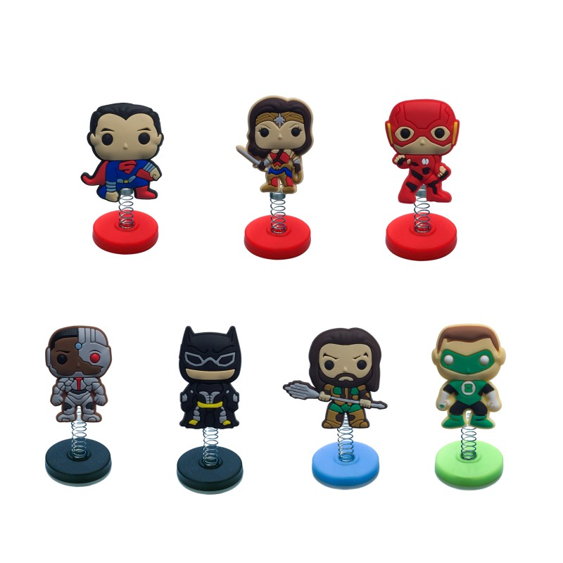 1pcs Justice League <font><b>Cool</b></font> Standing Dolls PVC Accessories Home Decoration Cute Action Figure DIY Spring <font><b>Toys</b></font> <font><b>Kid</b></font> Gift Party Favors image