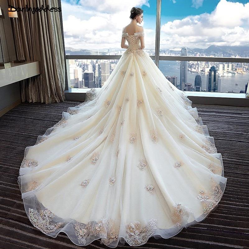 Black Lace Wedding Gowns: Elegant Colorful Lace Princess Wedding Dresses 2019