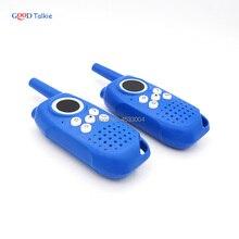 Crianças walkie talkie interfone portátil 2 rádio bidirecional