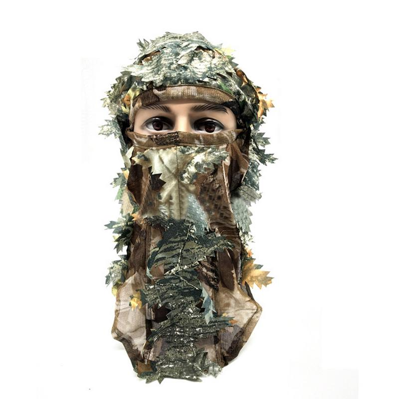3D Camouflage Thin Breathable Hoods Leaf Stereo Camouflage Hunting Mask Hat Balaclava Woodland Full Face Mask3D Camouflage Thin Breathable Hoods Leaf Stereo Camouflage Hunting Mask Hat Balaclava Woodland Full Face Mask