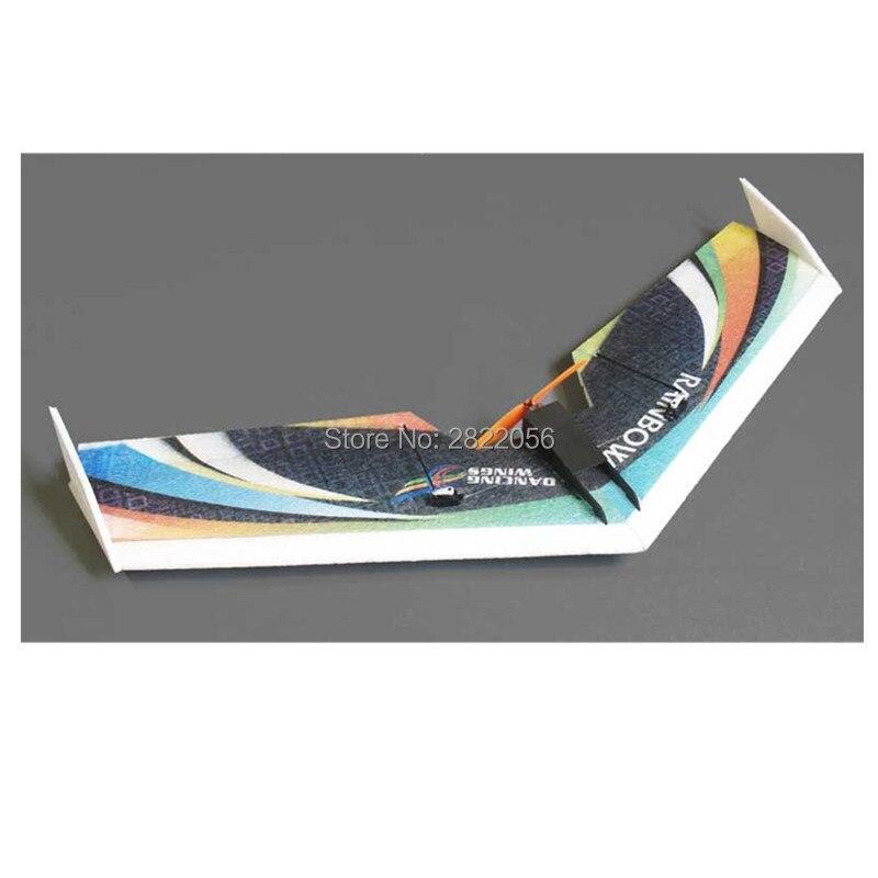 Frete grátis RC Avião EPP Modelo de Avião PASSATEMPO DW Rainbow Voar de Asa 800 milímetros Envergadura empurrão Cauda versão RC Avião kit