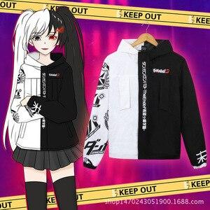 Image 5 - Danganronpa Monokuma Cosplay Costume Men Women Black and White Bear Jacket Sweatshirt Japanese Anime Hoodie