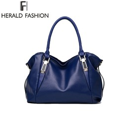 Herald Fashion Luxury Handbags Women Shoulder Bag Casual Large Tote Bags Hobo Soft Leather Ladies' Crossbody Messenger Bag Sac