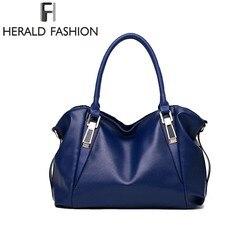 Herald de lujo de moda mujer bolsos de hombro bolso Casual Bolso bandolera de cuero suave mujeres bolso mensajero bolsa Sac
