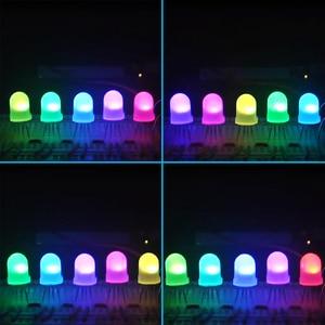 Image 5 - 5 1000 قطعة DC5V منتشر قبعة دائرية RGB LED مع WS2811 5 مللي متر F5 8 مللي متر F8 بكسل اردوينو led رقائق RGB كامل اللون عنونة المصابيح