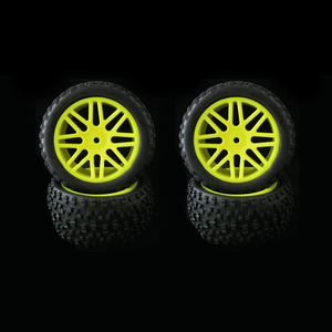 Image 5 - 4pcs Wheel Rim & Rubber Tyre Tires For RC 1/10 Off Road Car Buggy Replacement