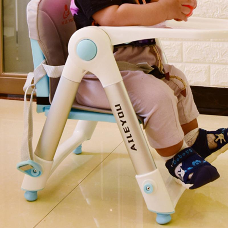 Baby Dining Chair Multi-functional Children's Folding Baby Beat Portable Dining Chair Dining Heightening The Eat Chair