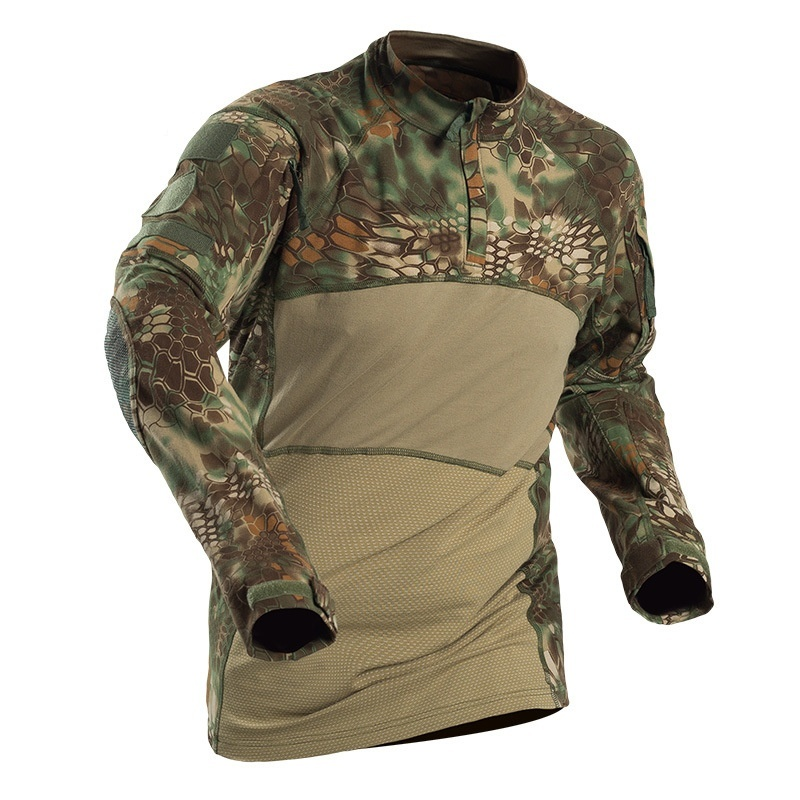 Mandra Night Camo T-Shirt Camouflage Military Army Soldier Airsoft Blue New