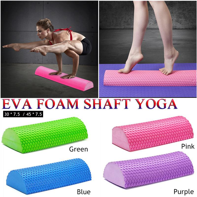 Half Round EVA Massage Foam Roller Yoga Pilates Fitness Equipment Balance Pad Yoga Blocks With Massage Floating Point 30-45cm