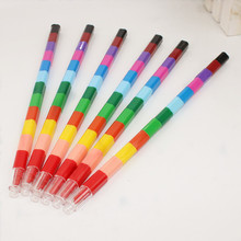6Pcs Student Painting Crayons 12 Color Children Kids Drawing Creative Kid Sketching Art Painted Tool Office School Non-toxic