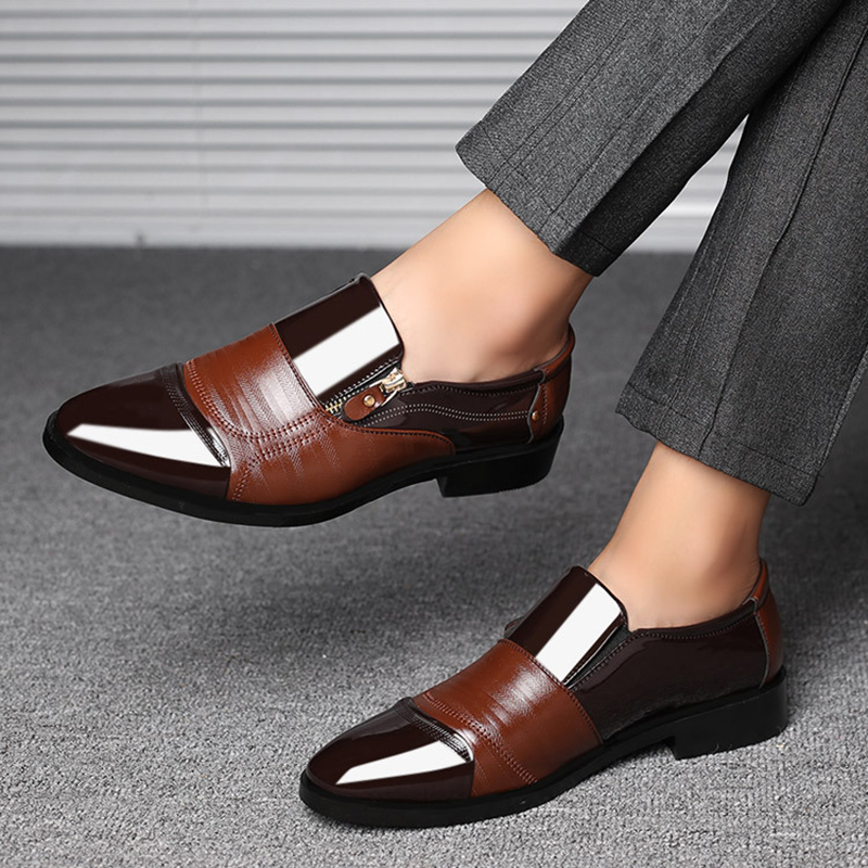 UPUPER Classic Business Men's Dress Shoes Fashion Elegant Formal  Wedding Shoes Men Slip On Office Oxford Shoes For Men Black