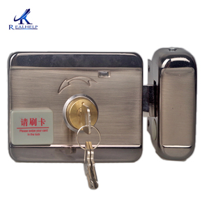 Image 2 - Electronically Controlled Unit Door Lock Induction Card Brushing and Magnetic Card Brushing Lock for Household Rental House